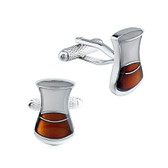 Glass of Whiskey Cufflinks