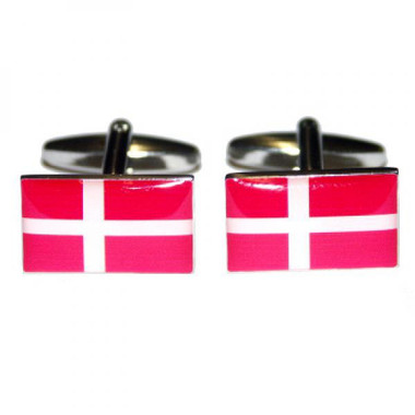 Danish Dannebrog Flag cufflinks
