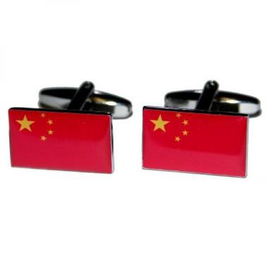 Flag of China cufflinks