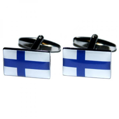 Finnish Flag cufflinks