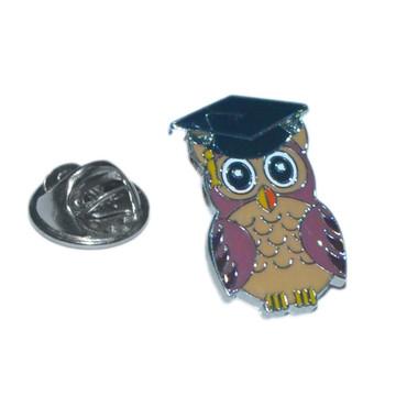 Owl Graduation Lapel Pin Badge