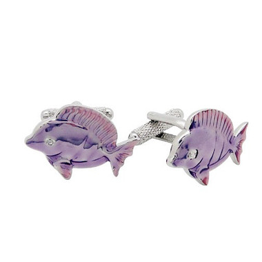 Purple Fish Cufflinks