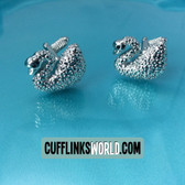 You won't be an ugly duckling with these elegant swan cufflinks!