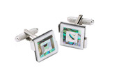 Mother of  Pearl Cufflinks with Shell Montage