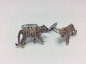 Hand Painted Tiger Cufflinks