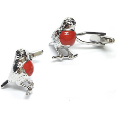 Who can resist the cheeky robin - a cheery garden visitor, you can now have as a pair of cufflinks!