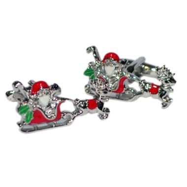 Santa on his sleigh cufflinks