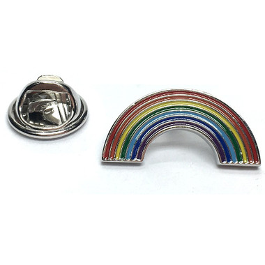 Rainbow Coloured Enamel Lapel Pin Badge