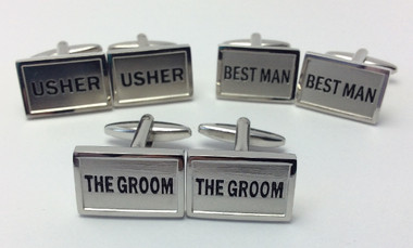 Groom, Best Man and Usher Rectangular  Cufflinks