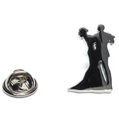 Couple Ballroom Dancing Lapel Pin Badge
