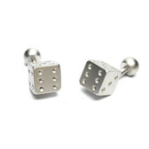 Solid Bar Dice Cufflinks