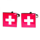 Square Swiss State Flag Cufflinks