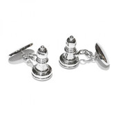 Bishop Chess Piece Chain link Cufflinks