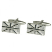Metal Relief Style Union Jack Cufflinks