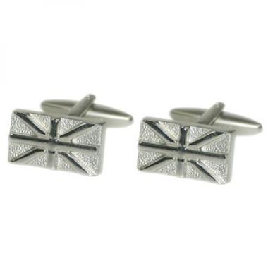 Metal Relief Style Union Jack Cufflinks