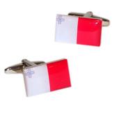 Malta Flag Cufflinks