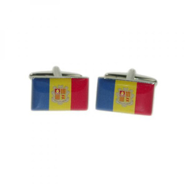 Cufflinks representing the Flag of the Principality of Andorra