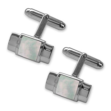 925 Hallmarked Sterling Silver Cufflinks Mother of Pearl