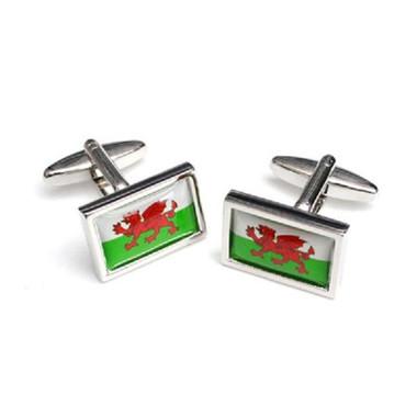 Flag of Wales cufflinks