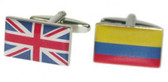 Union Jack and Colombian Flag Cufflinks