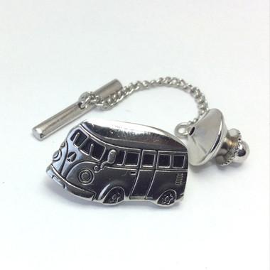 Chrome Camper Van Tie Pin