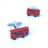 Red London Bus Cufflinks