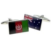 One of each: Afghanistan Flag and Australian Flag Cufflinks
