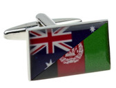 Representation of the Australian / Afghanistan flags as cufflinks