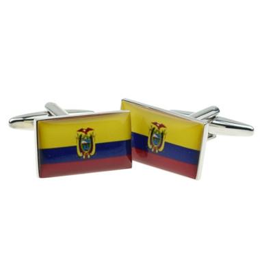 Flag of Ecudor Cufflinks