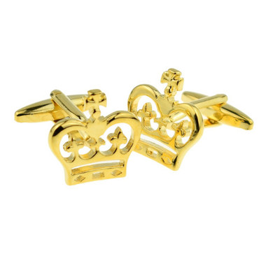 Golden Crown Cufflinks