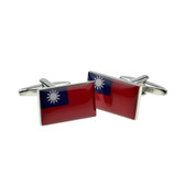 Taiwanese National Flag Cufflinks