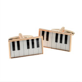 Rose Gold Piano Keyboard Cufflinks