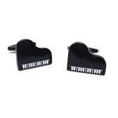 Grand Piano Style Black Cufflinks