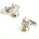 Knight / Horse Chess Piece Chain-link Cufflinks