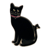 Lucky Black Cat Lapel Pin Badge