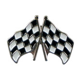 Motor Racing / Grand Prix Chequered Flags Lapel Badge