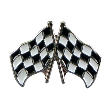 Motor Racing / Grand Prix Chequered Flags Lapel Badge