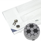 Football Design Button Covers (pair): perfect for shirts that have buttons and no cufflinks holes!