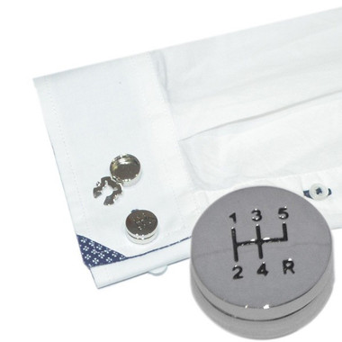 Gearstick Design Button Covers (pair): perfect for shirts that have buttons and no cufflinks holes!