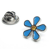 Forget Me Not Flower Lapel Pin Badge