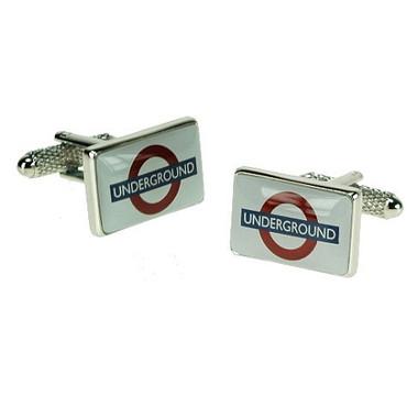 Iconic London Underground Sign Style Cufflinks