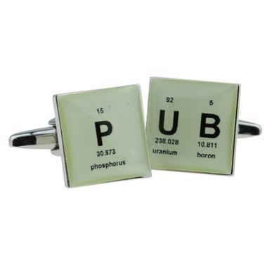 P-UB (pub) Periodic Table style Cufflinks