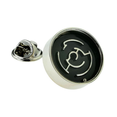 'working' maze puzzle lapel pin badge