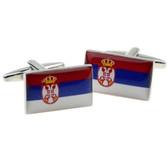 Serbia Flag Cufflinks