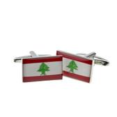 Lebanese Flag Cufflinks
