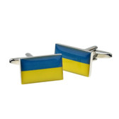 Flag of The Ukraine on Cufflinks