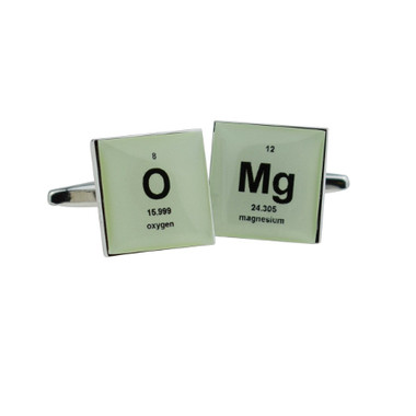 Oh My Goodness -how clever are these Periodic Table Stye Cufflinks!