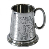 Grand Daughter 1/4 (quarter) Pint Pewter Tankard,