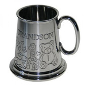 Grandson 1/4 (quarter) Pint Pewter Tankard,