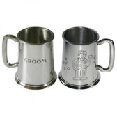 Groom Tankard 1 Pint Pewter